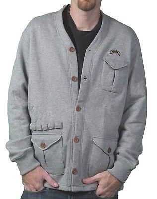 Ten 10.Deep Heather Grey Veterans Card Fleece Cardigan Sweater Jacket 2XL 3XL NW