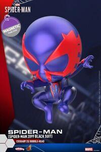 Hot-Toys-COSB623-Spider-Man-2099-Black-Suit-PVC-Bobble-Head-COSBABY-Figure-Dolls