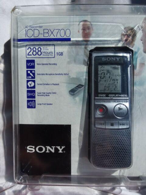 Sony ICD-BX700 (1 GB, 288 Hours) Handheld Digital Voice Recorder / NIP