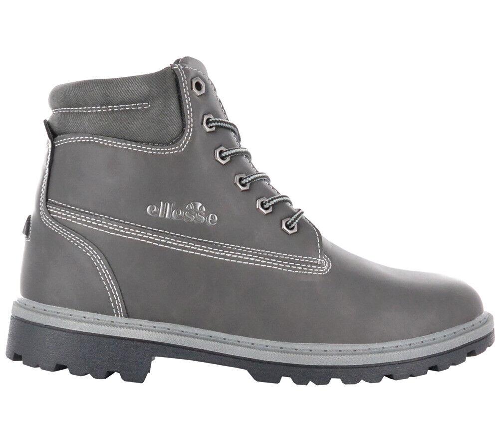 Ellesse Italia Invierno Botas De Hombre Oslo Gris Invierno Italia Zapatos NUEVO el721402-03 9dba52