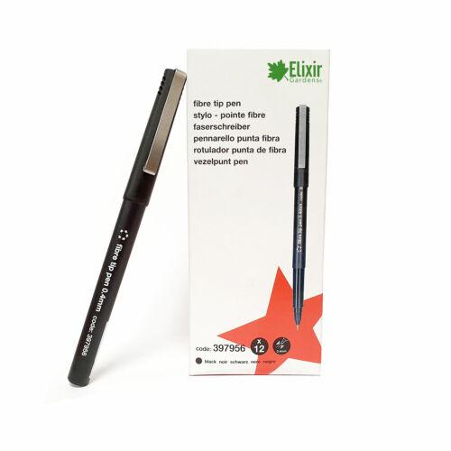 Black Fibre Tip 0.4mm Pen 12 Pack