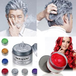 Bunt Silbergrau Haar Wachs Männer Frauen Färben Grauen Schlamm Stil
