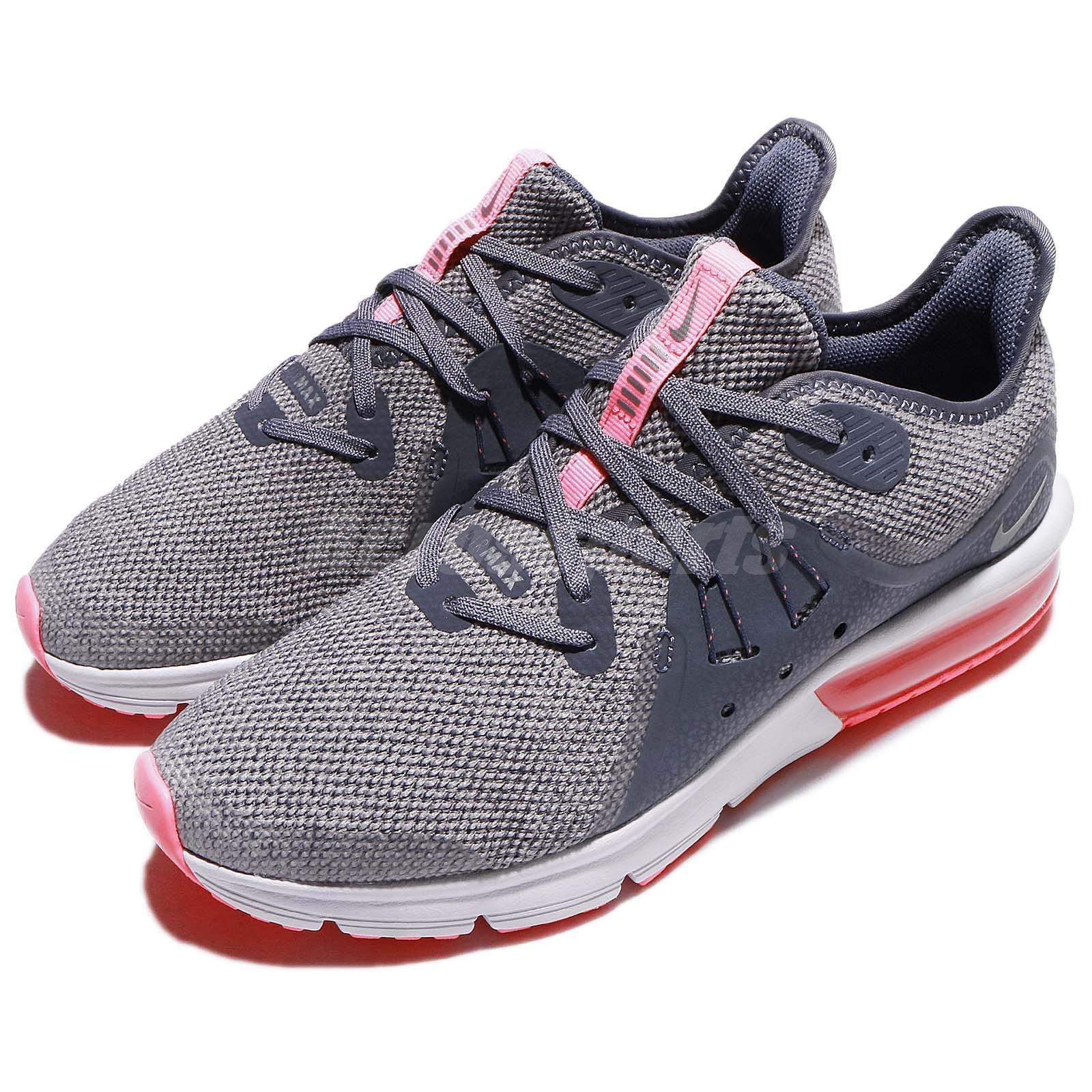 Nike Air Max Sequent 3 GS Grey Pink Youth Kids Womens Running shoes 922885-003