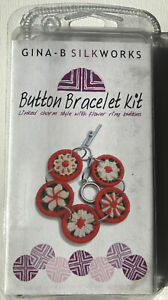 Gina-B-Silkworks-Button-Bracelet-Kit-Floral-Brand-New