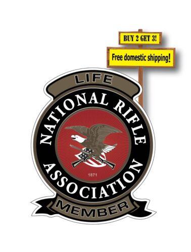 NRA Life Patch Decal Sticker Gun Rights National Rifle Association Pistol p23