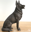 16cm-Bronze-sitting-German-Shepherd-Alsatian-ornament-figurine-Dog-Lover-gift thumbnail 1