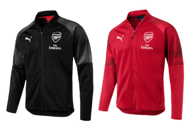 Puma Arsenal Stadium Jacket (75462901) Soccer Training Running Track Top