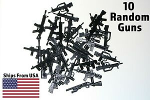 LEGO-Guns-Lot-of-10-Military-Army-SWAT-Assault-Rifle-Sniper-Shotgun-Machine-Toy