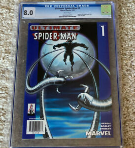 2002-Ultimate-Spider-Man-1-034-BLUE-TARGET-VARIANT-EDITION-034-CGC-Graded-8-0