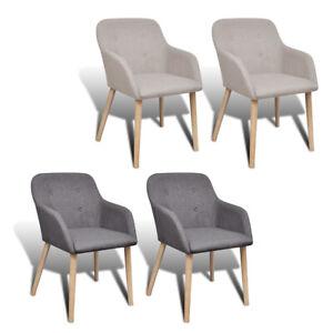 Kitchen-Dining-Side-Chair-solid-Oak-Frame-Armrests-Light-Dark-Gray-2pcs