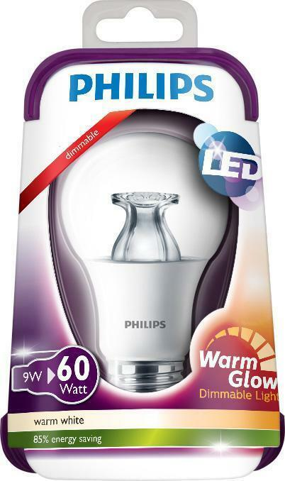 Philips Dimmable LED 9w Equivalent to 60w Warm Glow Bulb - Amazing Price