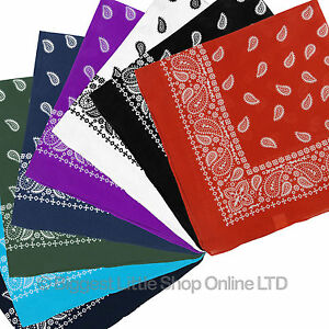 NEW-Extra-Large-Paisley-Bandana-Bikers-Head-SCARF-in-8-Colours-Soft-Lightweight