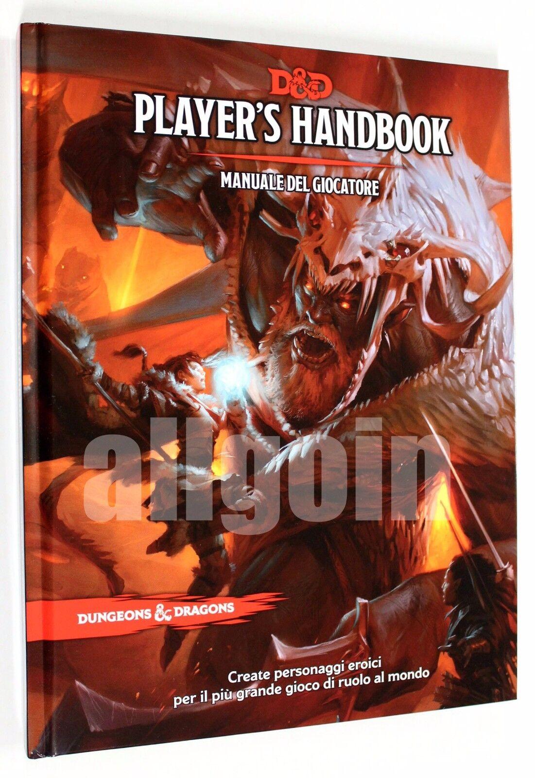 Dungeons & Dragons uomoUALE DEL GIOCATORE QUINTA EDIZIONE 5^  5e D&D ITALIANO  Offriamo vari marchi famosi