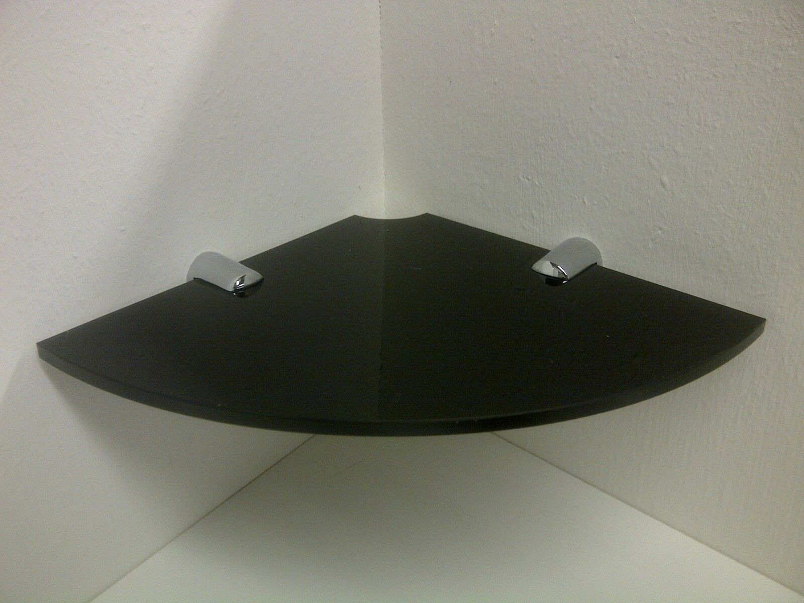 Acrylic Corner Shelf With Cable Way For Small Speaker