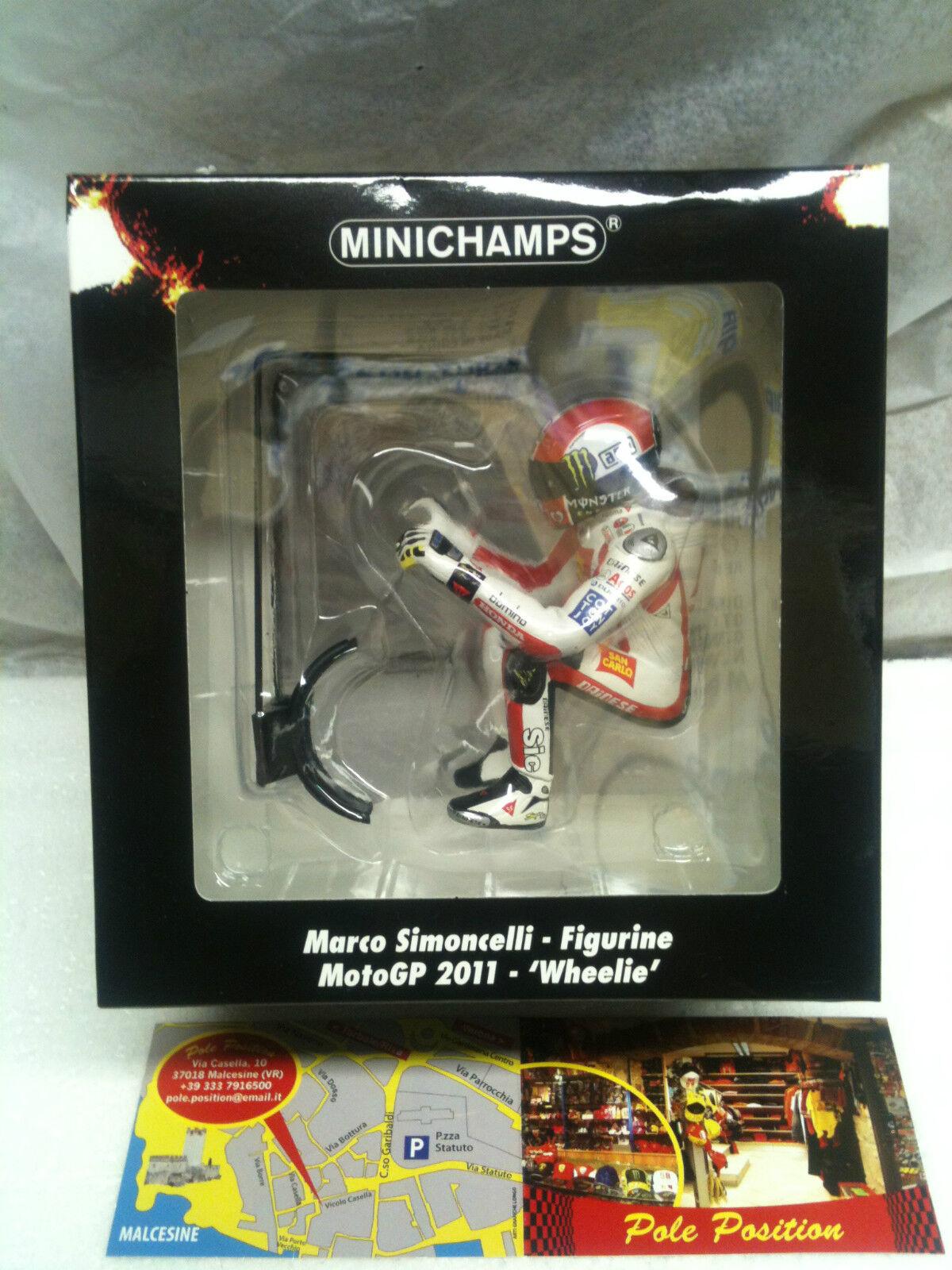 MINICHAMPS 1 12 FIGURA FIGURINE SIMONCELLI MOTOGP 2011 -´WHEELIE´ L.E. 1158 pcs.