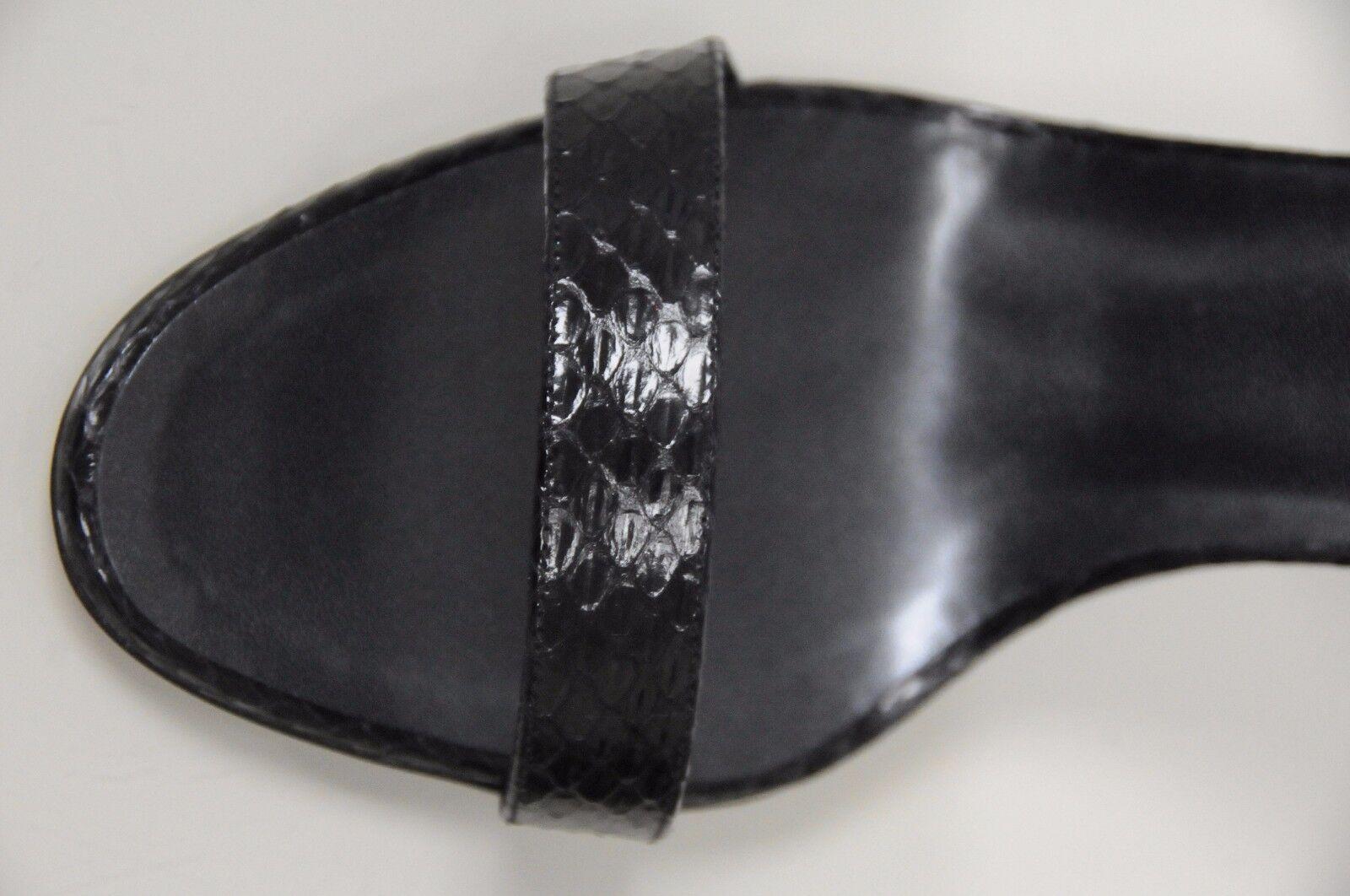Neu Manolo Blahnik Blahnik Blahnik Lontana Exotischer Schlange Schwarze Sandalen Bb Schuhe 36.5 fd8998