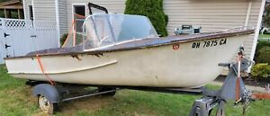 1956 Sandusky Boat Co. / Russell Boats Inc - 16ft Wood Boat with Tee Nee Trailer