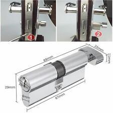 New X70 SilverTone Cylinder Hardware Indoor Aluminum Home Security Door Lock