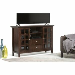 Simpli Home 3axcactts Acadian Collection Tobacco Brown Tall Tv Media