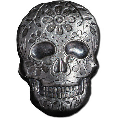 The Coin Shoppe TCS 3D SKULL 2 oz .999 Pure Silver 3D Bar HAND POURED