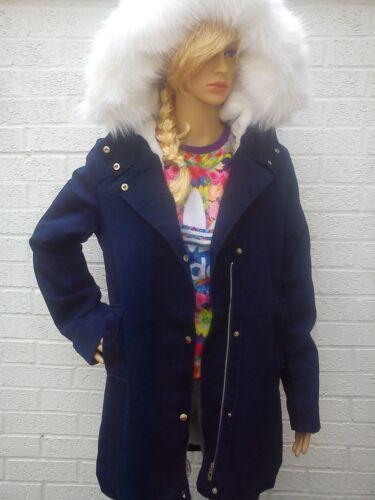 fourrure 10 manteau 2018 Incroyable veste manteau d'hiver jeans dames eur taille 38 m v1x6qt