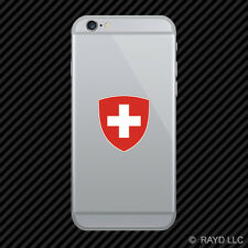 Swiss Coat of Arms Cell Phone Sticker Mobile Switzerland flag CHE CH