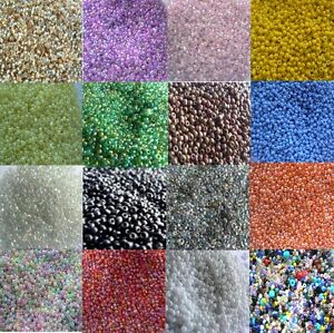 Beads-Small-Glass-Seed-Beads-Choose-Your-Colour-2mm-size-30g-bag
