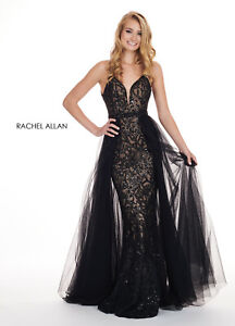 d0e4b7c8e81b Authentic Rachel Allan 6566 Dress--Color:Black --Size:10 -Prom Dress ...