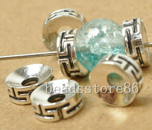 100pcs Tibetan Silver spacer beads fit bead Jewelry Findings 7x3mm