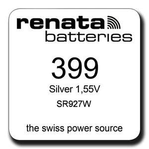 Renata-399-SR927W-SR57-Silver-Oxide-Watch-Batteries-SELECT-1-2-3-4-5-amp-10-x-QTY