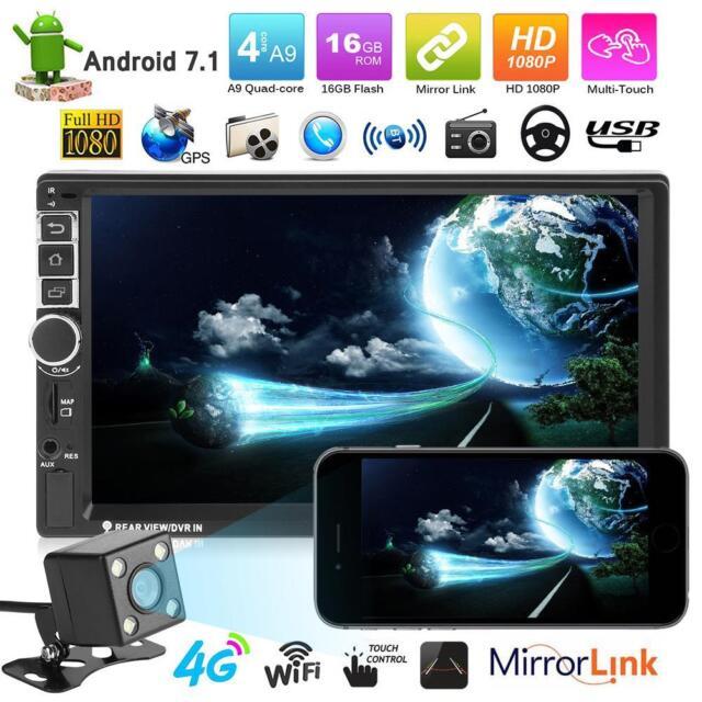 VODOOL 7in 2Din Quad Core Android7.1 Car GPS Stereo Radio WiFi MP5 Player+Camera
