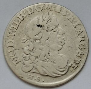 Details about Brandenburg Prussia 6 Groschen 1679, Friedrich Wilhelm,  Königsberg, Szostak