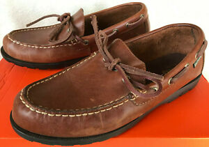 6ba33b30f29 Eastland Yarmouth Camp Brown Leather Slip-On Moc Loafers Boat Shoes ...
