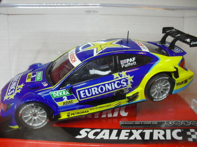 """FUERA STOCK SCALEXTRIC A10214S300 Mercedes C-Coupe """" Pafett"""" AMG DTM 1/32  new"""
