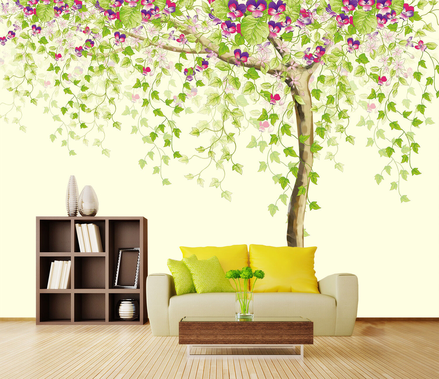 3D Paint Trees 425 Wallpaper Murals Wall Print Wallpaper Mural AJ WALLPAPER UK