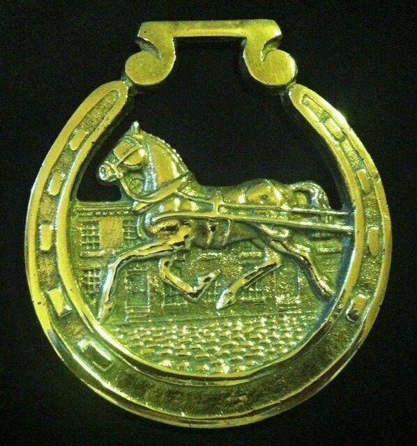Vintage OverGrößed Horse Harness Brass Harris HORSE IN STREET von JEE Very Rare Los
