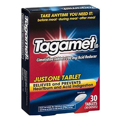 Tagamet Acide Réducteur, 200mg Cimetidine Comprimés, 30 Nombre