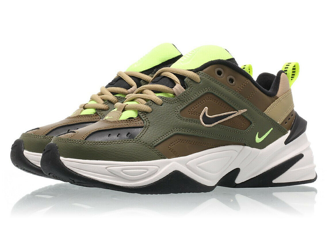 New Nike M2K Tekno AO3108 201 size 7.5 women's green olive brown sneakers