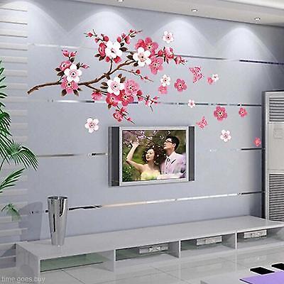PVC DIY Flower Blossom Floral Home Wall Viny Art Sticker Living Room Decal Decor