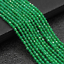 """Delicate 4mm   Faceted Green Round Gemstone Loose Beads 15/"""""""