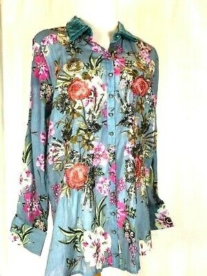 NWT Aratta Silent Journey Top Women/'s size Small Embroidered Sequin Floral $164