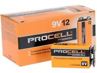 9 Volt 9v Duracell Procell Batteries 12 Pack Free Ship