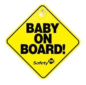 Safety 1St Baby On Board Car Window Sign Yellow