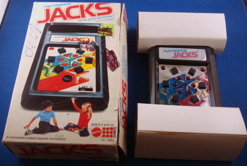 1970s MATTEL JACKS FUNTRONICS ELECTRONIC HANDHELD GAME ORIGINAL VINTAGE W  BOX