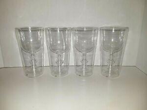 4 Wine Glasses Inside Tumbler Unusual Wine Glass Clear Glass Ebay