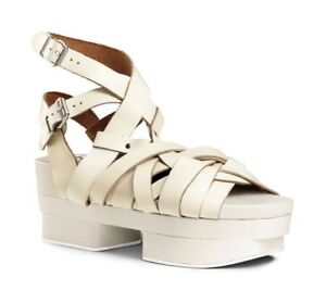 autumn shoes good looking wholesale dealer $800 Acne Studios Tarou Cream Leather Woven Platform Sandals 38 7 ...