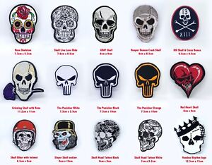 Skulls collection badges jacket jeans Iron or Sew on Embroidered Patches