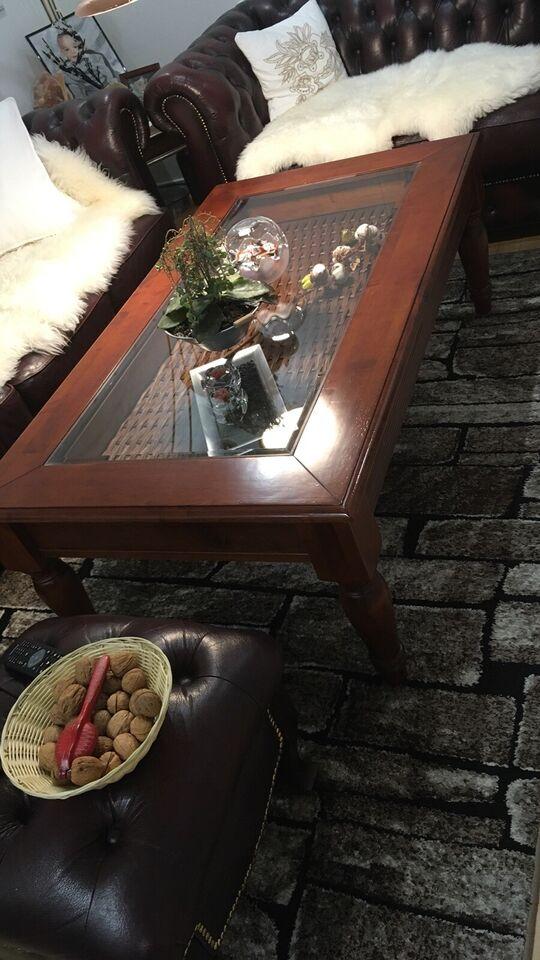 Glasbord, Mahogni lign, egetræ