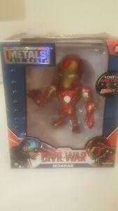 """4/"""" METALS Iron Man Die Cast MARVEL figures Civil War M46 winter soldier machine"""