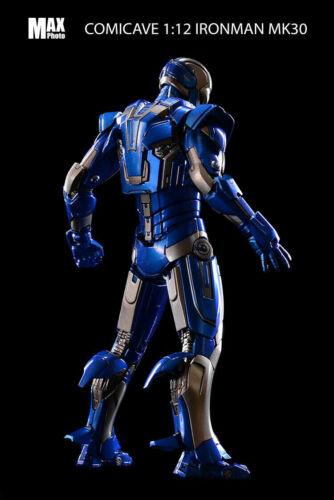 Comicave 1//12 Iron Man Figure Model Mark 30 LED Light Flexible Blue Steel Editio